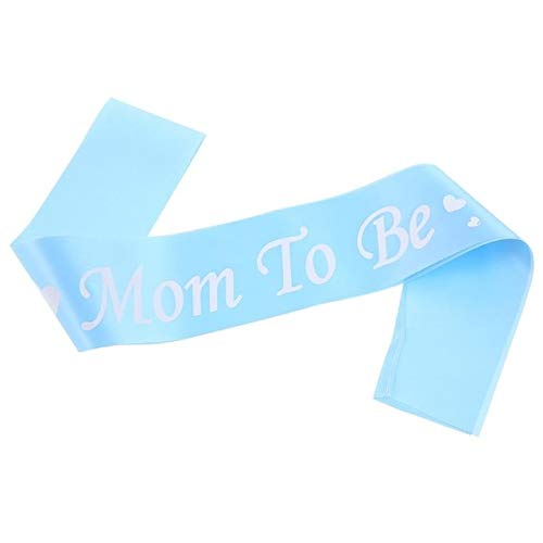 Laz-Tipa - Mum To Be Sash Baby Shower Satin Ribbon Pink Blue Shoulder Strap New Mom Party Decorations Supplies Mother Gift