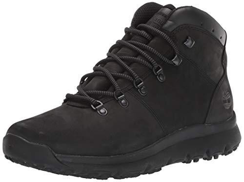 Timberland Men's World Hiker Mid Boot Boot, Blackout Nubuck, 085M M US