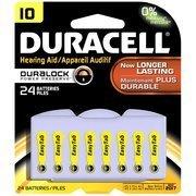 Duracell DA10B24ZMR10 Hearing Aid Batteries, Size 10, 24 Count