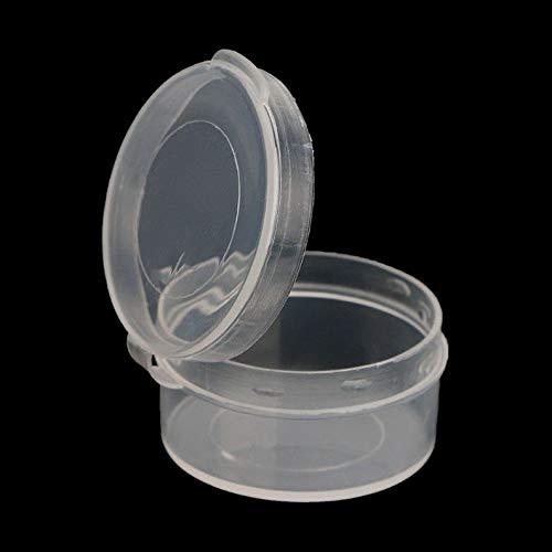 (Werrox 5PCS Round Storage Box Coin Pills Chip Case Holder Jewelry Organizer Container | Model JWRLBX - 38)