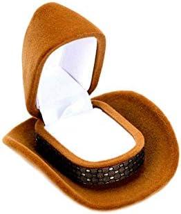 Yamde - Caja de Almacenamiento para Anillos con Forma de Sombrero ...