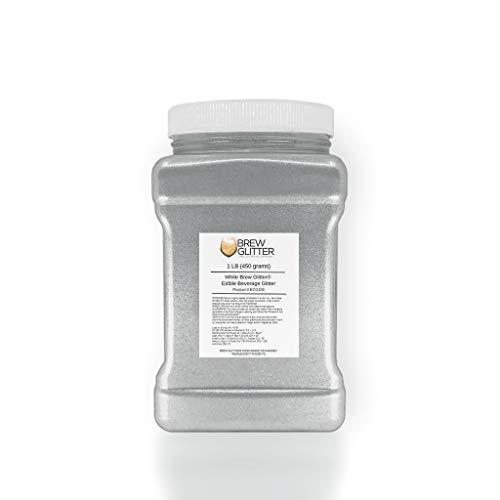 White Beer & Beverage Glitter | 1 lb (450 grams) | Edible Food Grade Beer Glitter, Cocktail Glitter & Beverage Glitter-Dust from Bakell by Bakell (Image #5)