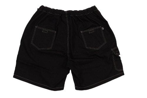 grandi dimensioni cargo fino in Pantaloncini 10xl neri jeans di Abraxas a Yq0AH