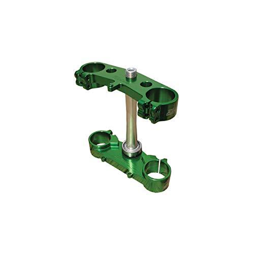 06-15 KAWASAKI KX450F: Ride Engineering Billet Triple Clamp Set (20mm Offset) (Green) - Offset Triple Clamp