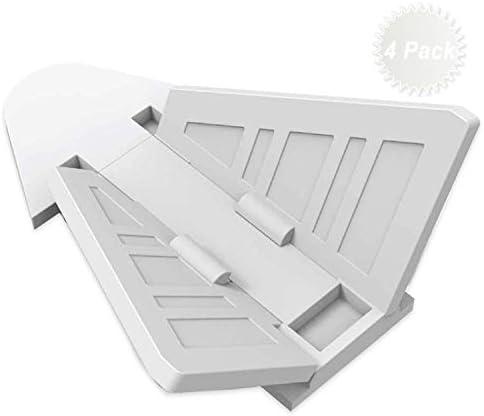 Naomo Cerraduras de Puerta Corredera para Bebé,Cerraduras de Seguridad con Adhesivo Fuerte 3M,Fácil de Operar 4 Piezas (4 Pack Blanco): Amazon.es: Bebé