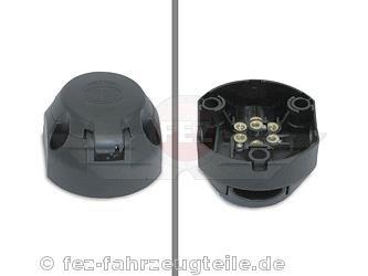 Steckdose 7-polig fü r Anhä nger Kunststoff-Hü lle (Hella*) passend fü r S50, S51, S70, KR51/1, KR51/2, SR50, SR80 FEZ Fahrzeugteile GmbH