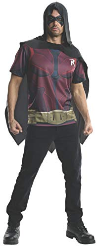 (Rubie's Men's Batman Arkham City Adult Robin Top, Multicolor,)