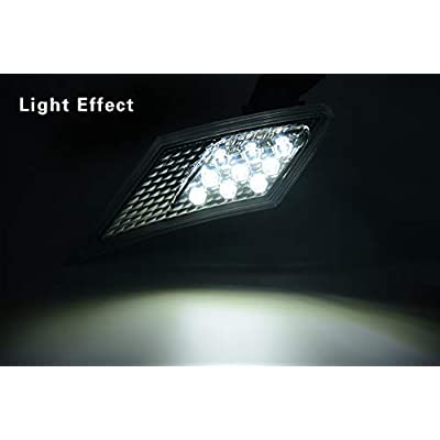 MFC PRO OEM SMD Led Technology ECE Side Marker Lamp For 2012-2020 TOYOTA 86 / GT86 / SUBARU BRZ/Scion FR-S (Smoke Lens with White Light): Automotive