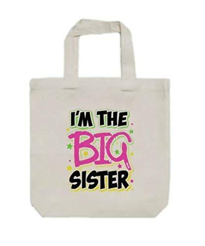 I'm The Big Sister Premium Canvas Tote Bag Books Toys Ballet Gymnastics Dance Arts Crafts 13