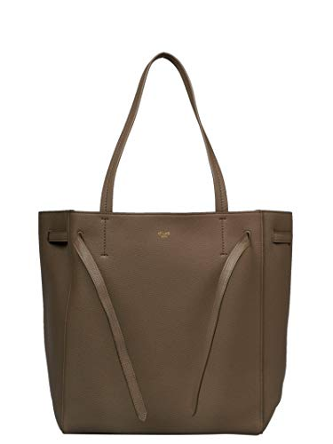 (Céline Women's 189023Tni18tp Bronze/Brown Leather Tote)