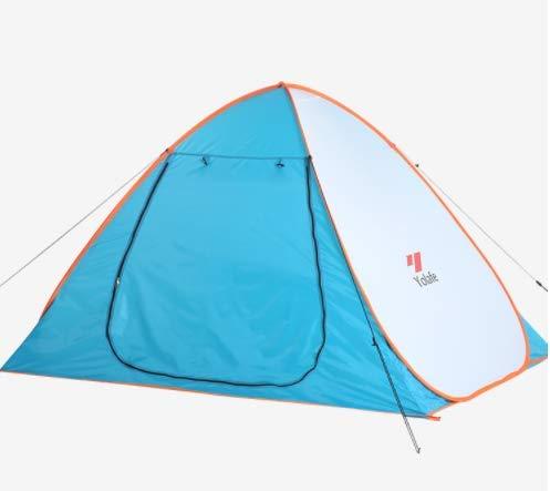 キャンプテント日よけ日焼け止めスピード投げテントビーチ屋外二重家族テント   B07MZRSMFX