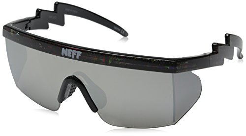 Neff Brodie Shades Men's Sunglasses with Interchangeable Lenses and Sunglass Case - 100% UV Protection Sunglasses for Men - Sunglasses for Cycling, Running and - Gents Sunglasses