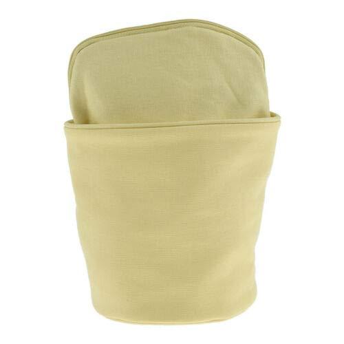 Foldable Bucket Storage Bag Travel Makeup Bag Zipper Jewelry Purse Portable (Color - Yellow) ()