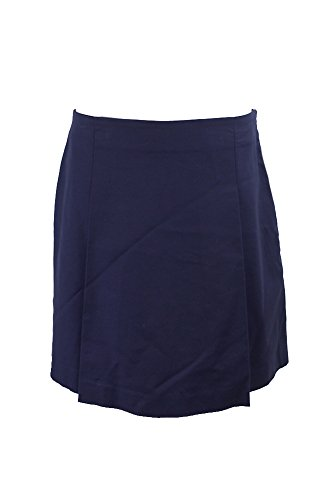 Ralph Lauren Lauren Women's Pleated Cotton Mini Skirt, Navy Blue (12)