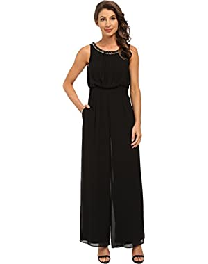 Jessica Simpson Womens Jumpsuit with Necklace