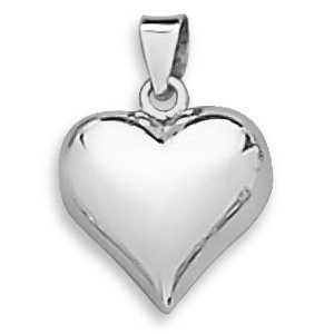 Polished puffy heart pendant sterling silver royal design amazon polished puffy heart pendant sterling silver aloadofball Images