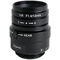 Kowa LM12JCM 2/3 12mm F1.4 Manual Iris C-Mount Lens, 2 Megapixel Rated