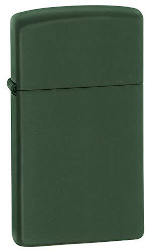 Zippo Slim Green Matte Pocket Lighter ()