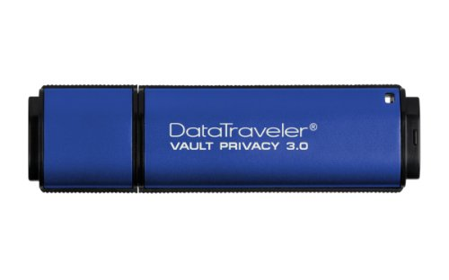 Kingston Digital 4GB Data Traveler AES Encrypted Vault Privacy 256Bit 3.0 USB Flash Drive (DTVP30/4GB) (Secure Aes 256)
