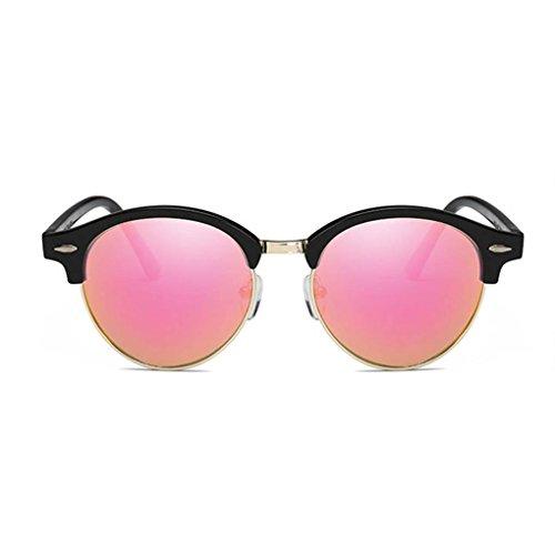 de de la unisex lentes Coolsir redonda de aleación forma de sol polarizadas retro vidrios la de UV400 los capítulo gafas 2 protección PC Gafas aWpA7Up
