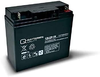 Batería de 19 Ah, 12 V, AGM, batería de Plomo, para cortacésped ...