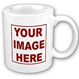 Personalized White Custom Mug 12 oz Ceramic Coffee Mug Cups - Custom Name, Picture, Message or Text, Custom Mug