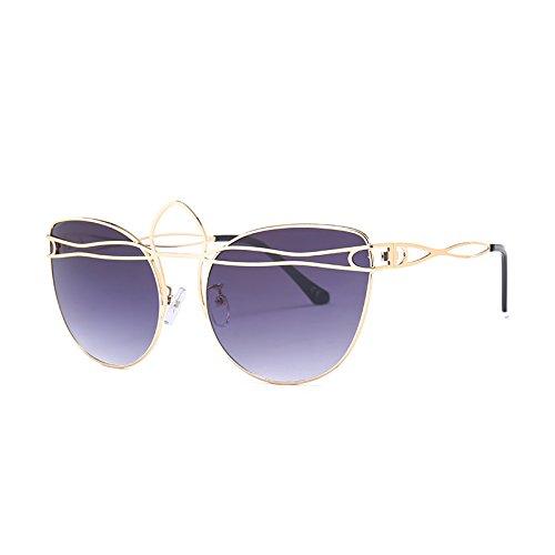 Sol TIANLIANG04 Vintage Gafas Gafas G437 Gafas Señoras De Ojo Gold Bastidor Tonos De C2 Hueco Aleación Mujeres Gato Gray Uv C8 De fqfwrC7Px