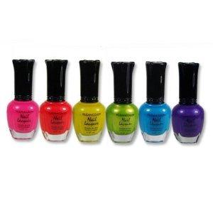 Kleancolor Neon Nail Lacquer 6 FIXER COULEURS