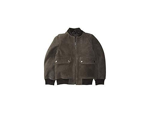 Urban Republic Kids Boy's Cow Suede Leather Jacket (Little Kids/Big Kids) Charcoal 5-6