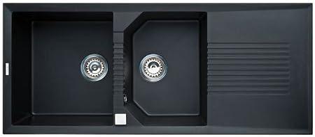 Elleci Tekno 500 granitek - Kitchen Sinks (granitek, Grey, 2 Bowls ...