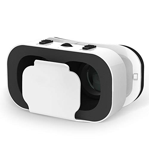 MUTANG VR Glasses 3D Virtual Reality Headset Cardboard Glasses Video Games Goggles with Adjustable Big Lens and Strap by MUTANG