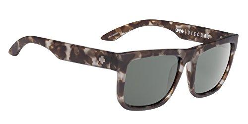 Spy Spy Optic Discord Flat Sunglasses, Soft Matte Smoke Tort/Happy Gray/Green, 1.5 - Discord Happy Lens Spy