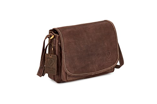 J. Wilson London - Bolso estilo cartera para mujer marrón marrón oscuro mediano marrón oscuro