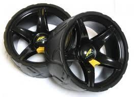 Powakaddy Wide Wheels - Black: Amazon co uk: Sports & Outdoors