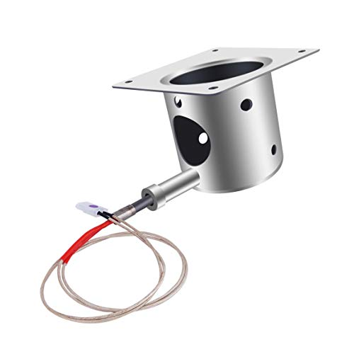 Ibbyee Steel Grill Fire Burn Pot and Igniter Combo for All Traeger Grills Fire Burn Pot Replacement Parts for Traeger and Pit boss Pellet Grill ()