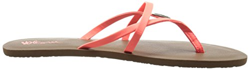Volcom All Night Long Sndl - Sandalias de material sintético para mujer naranja - Orange (Electric Coral / Elc)