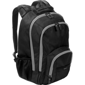 Targus Groove BTS 17 Notebook Backpack CVR618 (Black with Grey Accents) from Targus