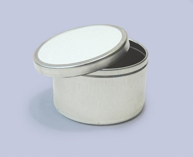 Qty. of 200 2 oz. Deep Tin Containers Body and lid assembled by Buckeye Shapeform