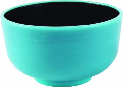 Solia PS35073 Thai Mini Bowl, 1-Ounce Capacity, 2'' Diameter x 1-3/32'' Height, Turquoise and Black (Case of 200) by Solia