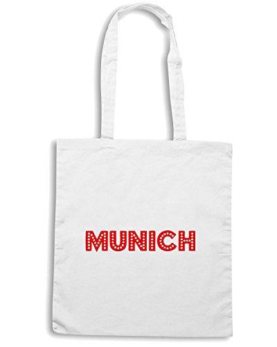 T-Shirtshock - Bolsa para la compra OLDENG00221 retro munich red Blanco