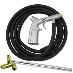 GHP Air Sandblasting Gun Tool Kit with 10' Hose & 4Pcs Nozzle Set