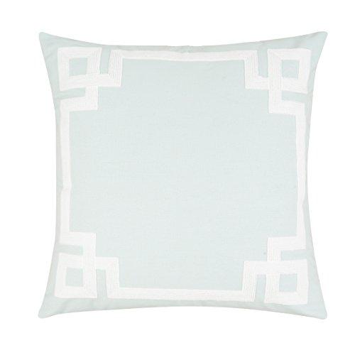 Key Embroidered Pillow Greek - C&F Home Greek Key Aqua Embroidered Pillow 20 X 20 Aqua