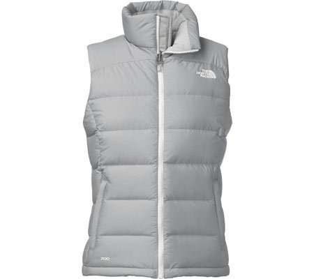 North Face Nuptse 2 Vest Womens High Rise Grey Heather/TN...