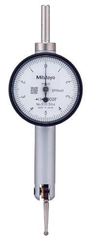 (Mitutoyo 513-504 Pocket Type Dial Test Indicator, Basic Set, Horizontal Type, 0.375