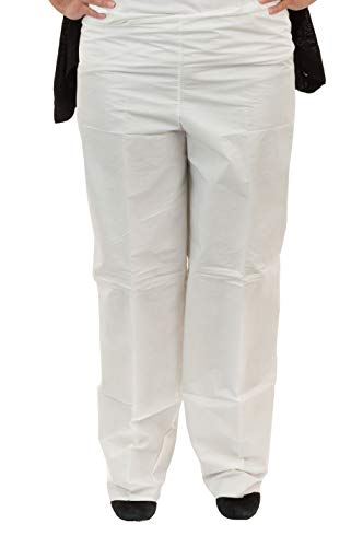 Microguard MP Microporous Pants (White) | Particulate & Splash Protection/Disposable Hazmat Pants with Elastic Waist for Paint and Particulates (XL, Case of ()