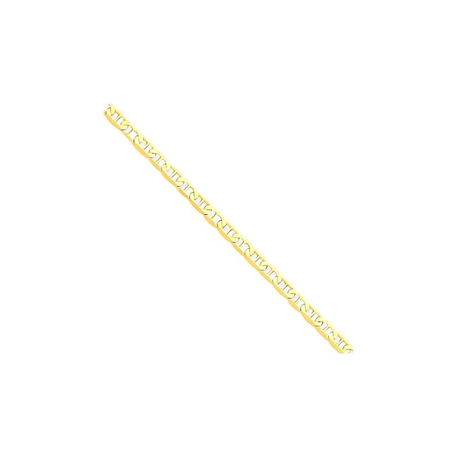 14k Yellow Gold Anchor Link Anklet Ankle Beach Chain Bracelet Fine Jewelry For Women Gift Set