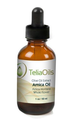 Extrait huile parfumée de Arnica (macérée pétrole), 1,7 oz - 50 ml / 100% pure et Body Oil secours puissant pour les entorses, les muscles douleur, les blessures, la douleur rhumatismale, l'arthrite Tendons, bosses et des contusions et d'autres blessures