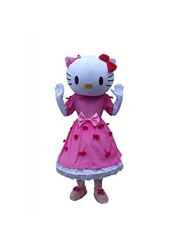 Hello Kitty Cat Adult Mascot Costume Cosplay Fancy Dress (Hello Kitty Cat Costumes)