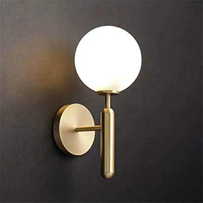 RDYL Lámpara de Pared LED, lámpara de Pared Decorativa, iluminación de Pared, Escalera de Bola de Cristal Moderna, Espejo de baño, luz Dorada, Aplique de Pared Redondo Negro,B: Amazon.es: Hogar