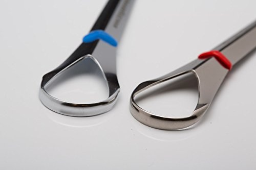 Tongue Sweeper Model P Stainless Steel Tongue Cleaner used and recommended by leading Dental Schools